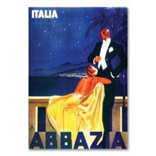 Italia Abbazia Canvas Wall Art