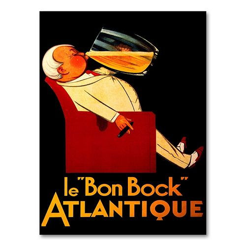 """Le 'Bon Bock' Atlantique"" Canvas Wall Art"