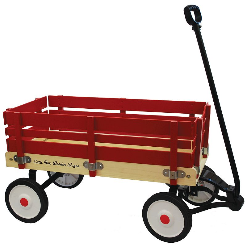Grand Forward Little Box 34-in. Wooden Wagon, Red