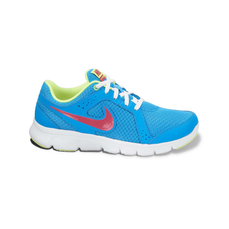 Nike Blue Flex Experience Running Shoes - Grade School Girls