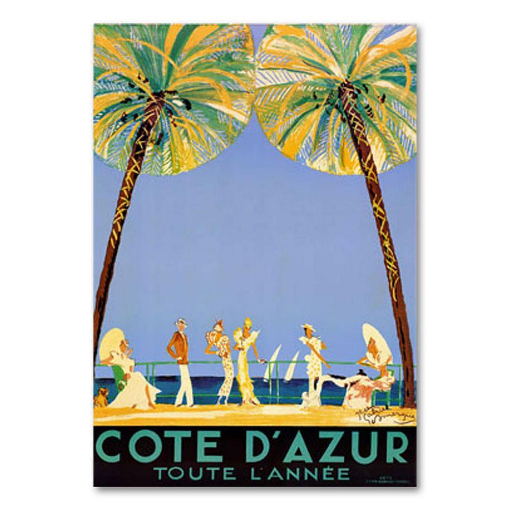 """Cote D'Azur"" by Jean Dumergue Canvas Wall Art"