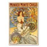 """Monaco-Monte Carlo"" by Alphonse Mucha Canvas Wall Art"