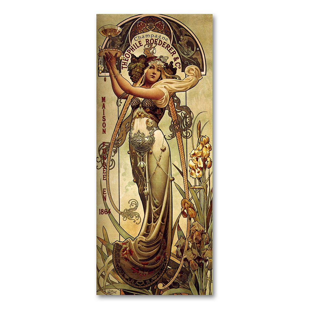 """Champagne Theophile Roeder Co."" by Louis-Theophile Hingre Canvas Wall Art"