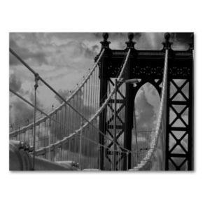 Manhattan Bridge by Yale Gurney Canvas Wall Art
