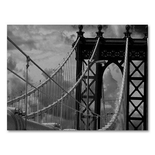 """""""Manhattan Bridge"""" by Yale Gurney Canvas Wall Art"""