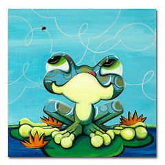 'Frog's Lunch' by Sylvia Masek Canvas Wall Art