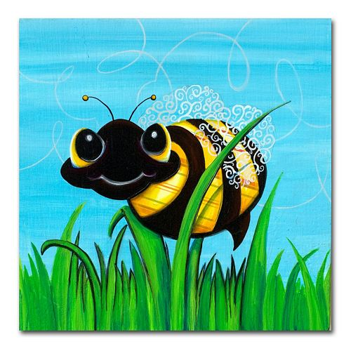 """""""Bee at Play"""" by Sylvia Masek Canvas Wall Art"""