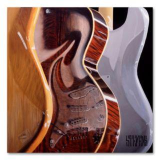 Music Store by Roderick Stevens Canvas Wall Art