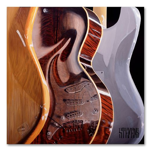 """Music Store"" by Roderick Stevens Canvas Wall Art"