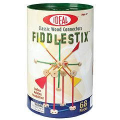 Ideal 68-pc. Fiddlestix Classic Wood Connector Set
