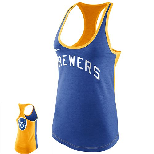 44f6bd162c8133 Women s Nike Milwaukee Brewers Racerback Tank