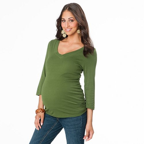 Maternity Oh Baby by Motherhood™ Ruched Tee