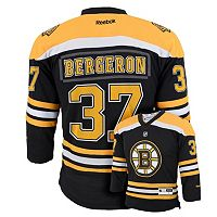 Boys 8-20 Reebok Boston Bruins Patrice Bergeron NHL Replica Jersey