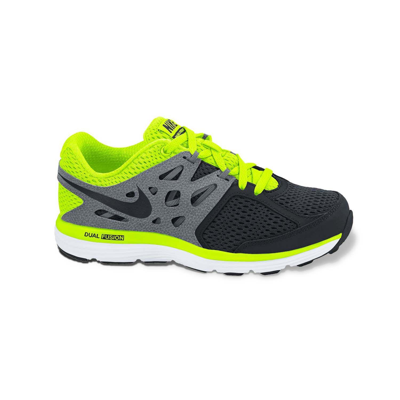 Nike Black Dual Fusion Lite High-Performance Running Shoes - Grade School Boys