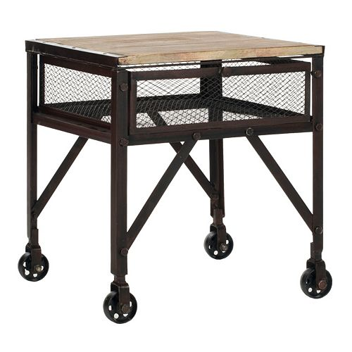 Safavieh Linus Rolling End Table