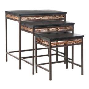 Safavieh Reed 3-pc. Stacking Table Set