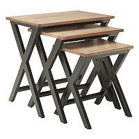 Safavieh Jack 3 pc Stacking Tray Table Set
