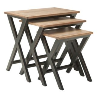 Safavieh Jack 3-pc. Stacking Tray Table Set