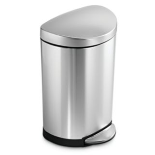 simplehuman 2.6-Gallon Semi-Round Step Trash Can
