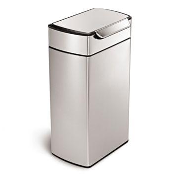 simplehuman 10.5-Gallon Rectangular Touch Bar Trash Can