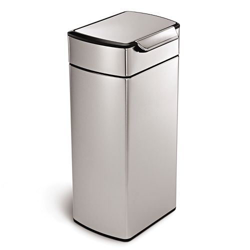 simplehuman 8-Gallon Rectangular Touch Bar Trash Can