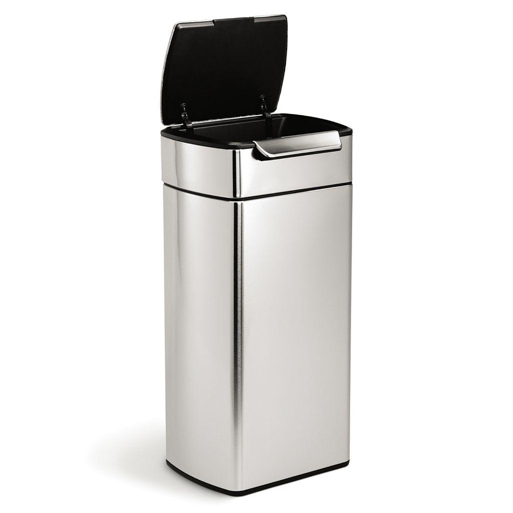 simplehuman 8-Gallon Rectangular Touch Bar Trash Can