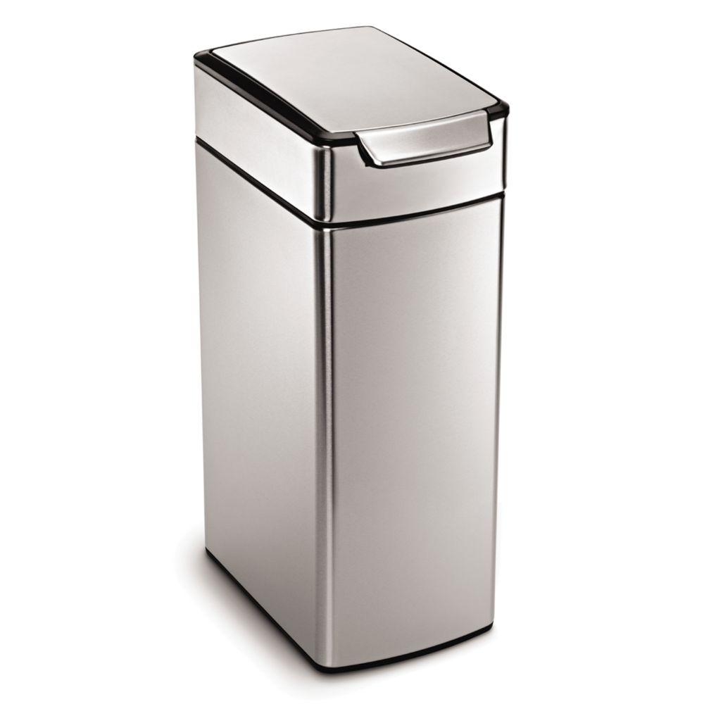 White Bathroom Garbage Cans simplehuman bathroom garbage : brightpulse