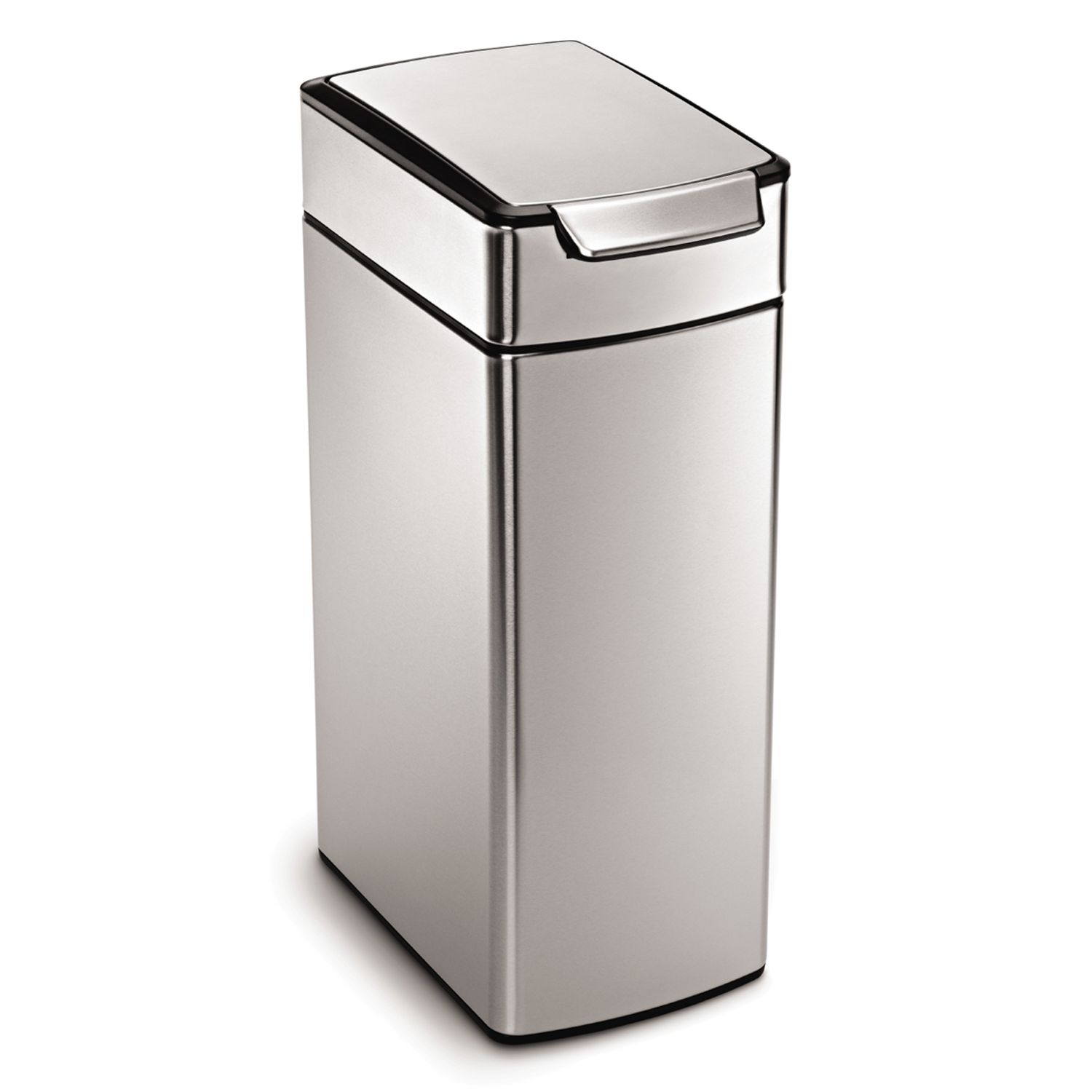 simplehuman 105gallon slim touch bar trash can