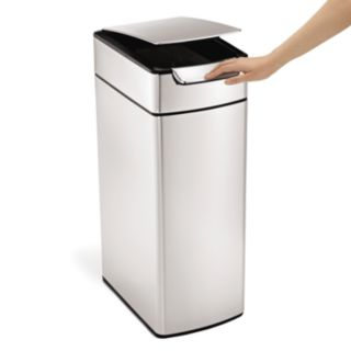 simplehuman 10.5-Gallon Slim Touch Bar Trash Can