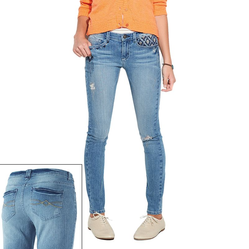 Mudd Aztec Skinny Jeans - Juniors