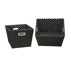 Household Essentials 2-pk. Black Storage Bins