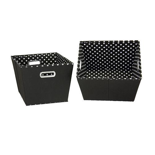 Household Essentials 2-pk. Black Storage Bins