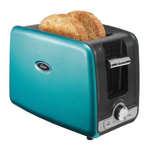 Oster 2 Slice Toaster Metallic Turquoise: Oster 2-Slice Toaster With Retractable Cord