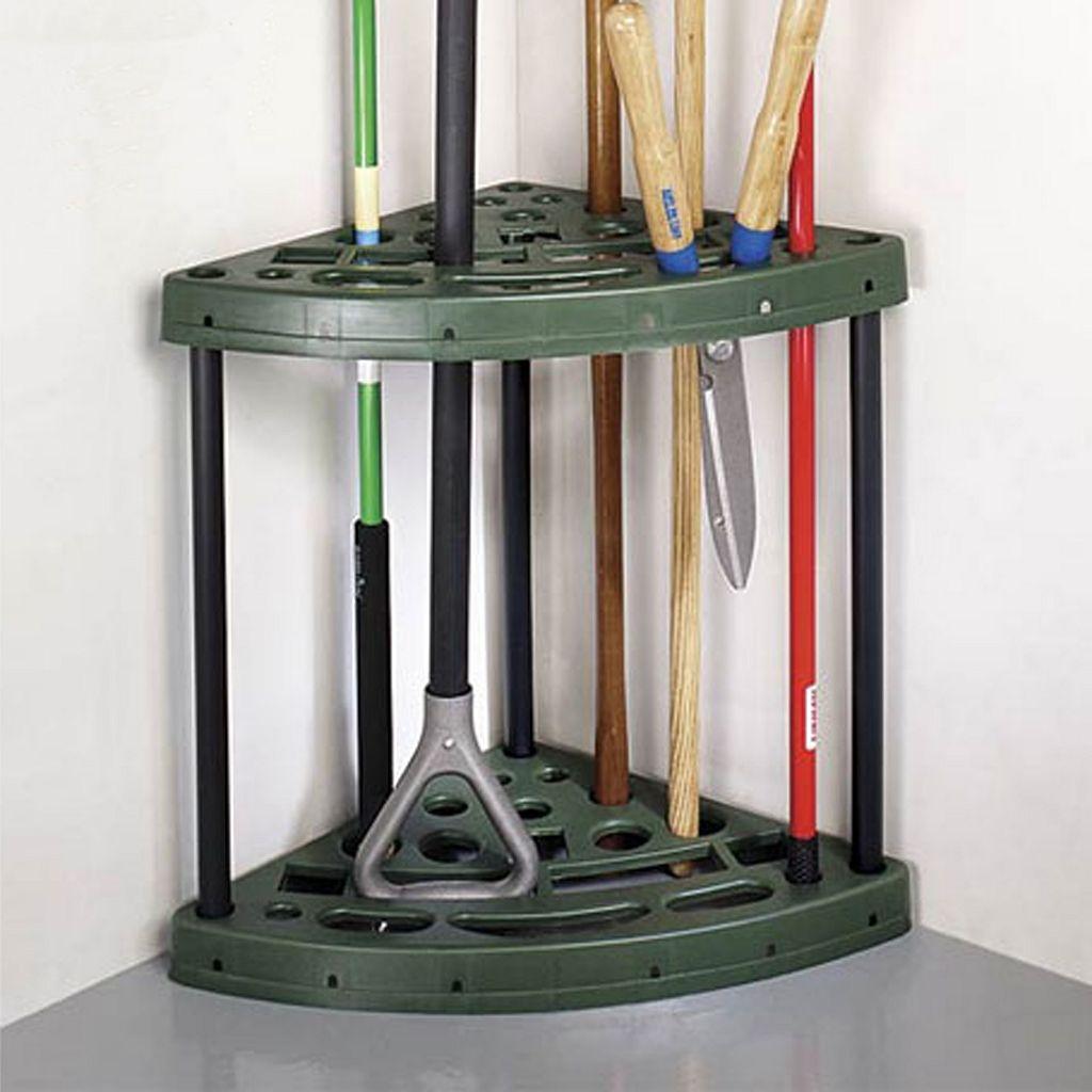 Trademark Home Yard Tool Corner Storage Rack