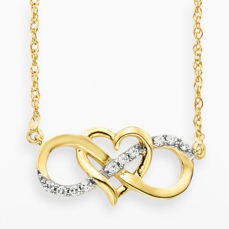 diamond 10k gold necklace kohls