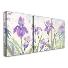 3-pc. ''June Iris'' Canvas Wall Art Set by Sheila Golden