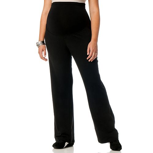 4994657b0a2 Plus Size Maternity Oh Baby by Motherhood™ Secret Fit Belly™ Yoga Pants