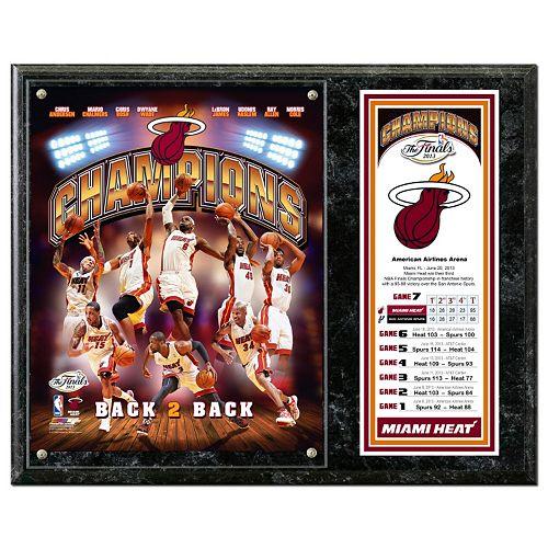 "Miami Heat 2013 NBA Champions 12"" x 15"" Plaque"