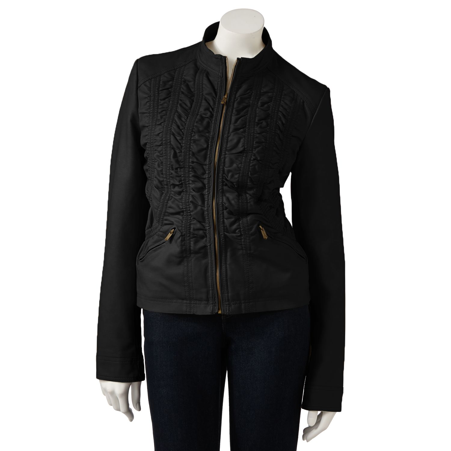 Hemisphere Faux-Leather Motorcycle Jacket - Women's