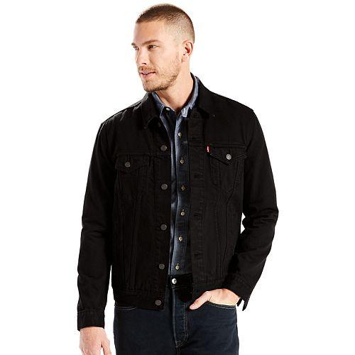 Big & Tall Levi's Denim Gridlock Trucker Jacket