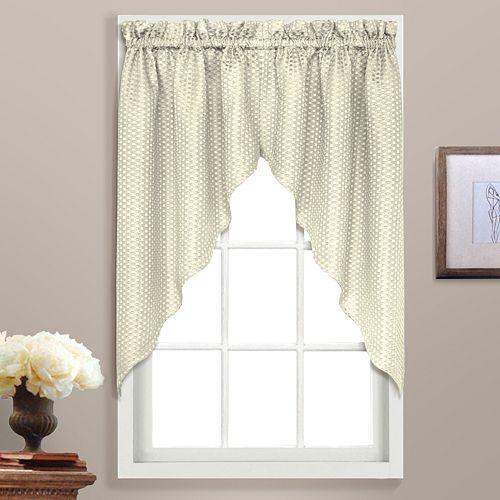 United Curtain Co. Hamden Swag Curtain Pair - 55'' x 38''