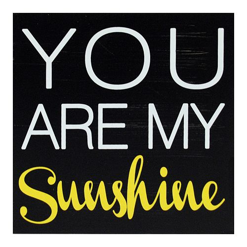 "New View ""You Are My Sunshine"" Caption Wall Decor"