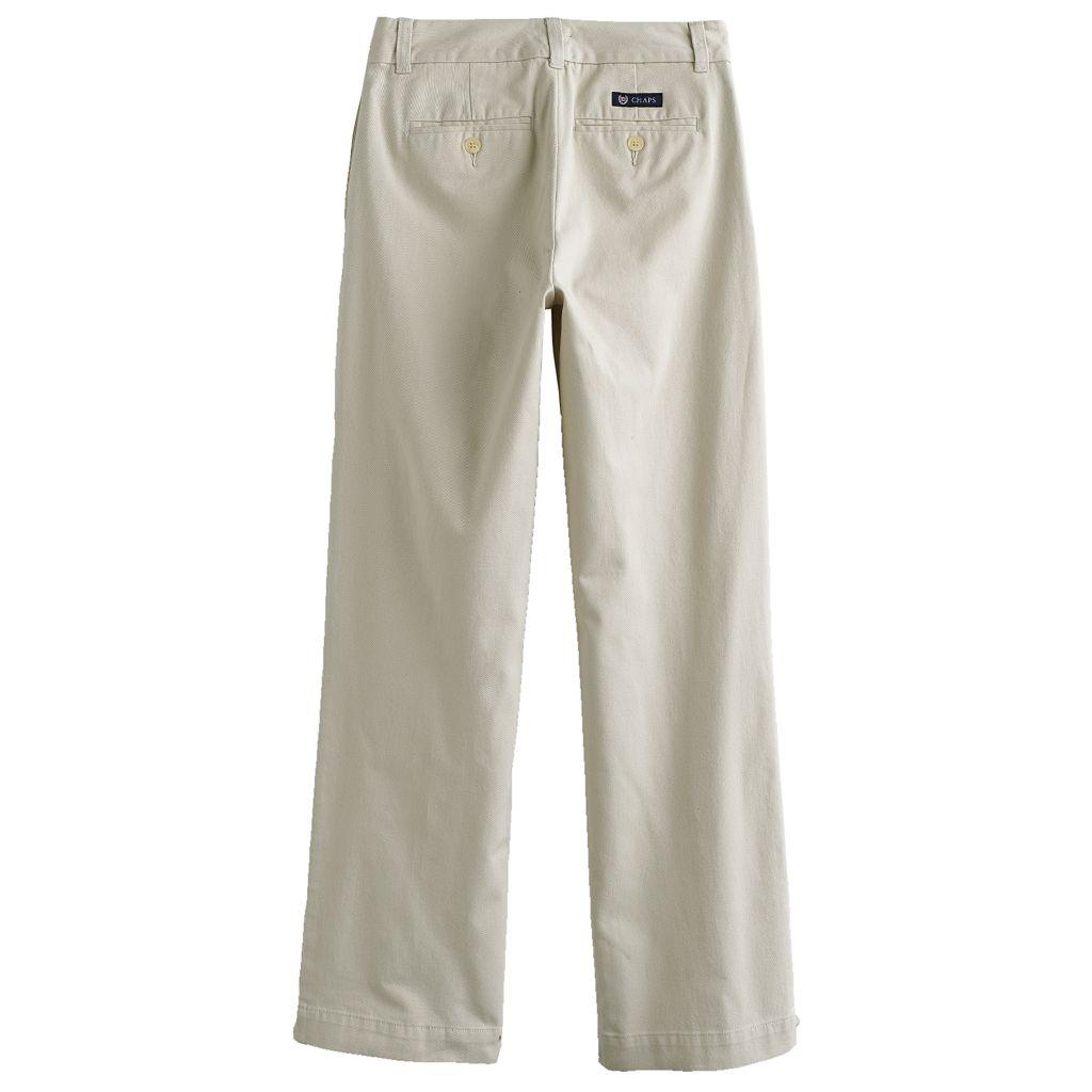 Boys 8-20 Husky Chaps Regular-Fit Straight-Leg Chino Pants