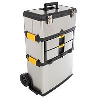 Trademark Tools 3 pc Wheeled Toolbox Set
