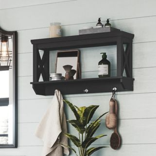 RiverRidge Home X-Frame Bathroom Wall Shelf