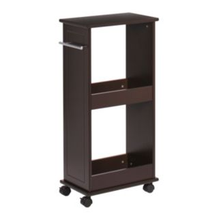 RiverRidge Home Rolling Side Cabinet with Shelves