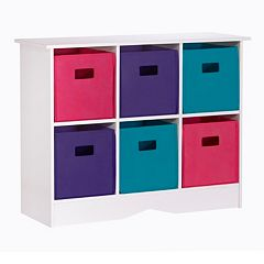 RiverRidge Kids Cabinet & Bright Storage Bins