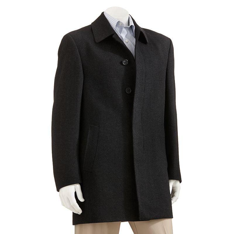 Men's Chaps Jake Herringbone Wool Blend Top Coat