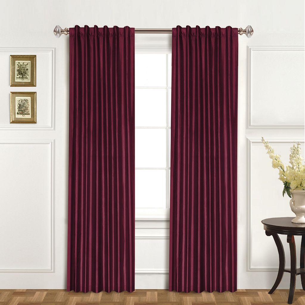 United Curtain Co. Dupioni Silk Austrian Tassle Window Panel