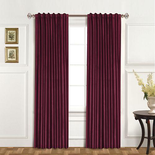 United Curtain Co. 1-Panel Dupioni Silk Austrian Tassle Window Panel